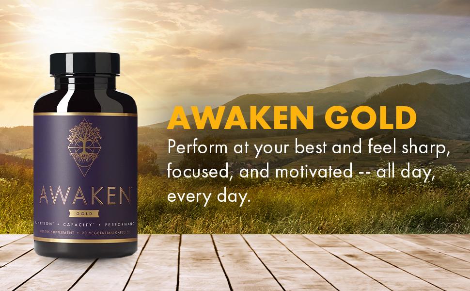Awaken Gold Best Nootropics with Noopept for Brain